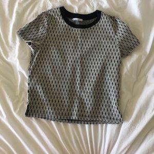 Zara geometric shirt